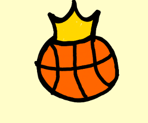 basketball with a crown