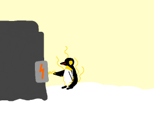 penguin getting electrocuted