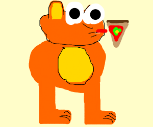 Garfield Eating Pizza Drawception