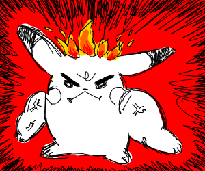 Pikachu burns