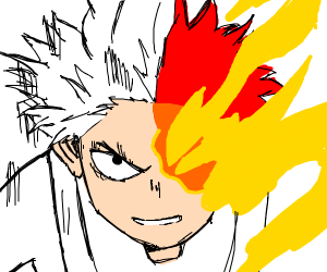 todoroki with fire and ice quirks