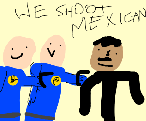 bald cops threaten to shoot mexican
