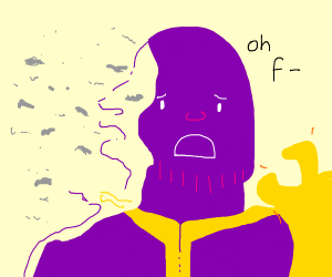 thanos ends up killing himself