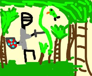 a knight in the jungle