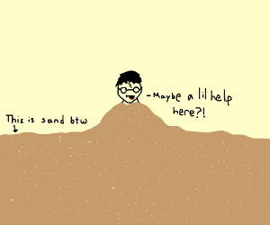 harry potter has been buried in the sand