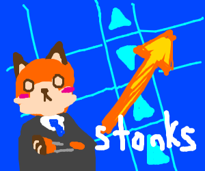 Stonks but with a fox