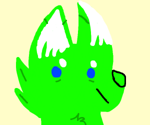 Neon green cat fury