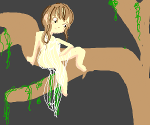 a forest tree women