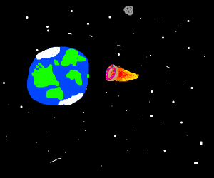 Donut Comet is aproching Earth