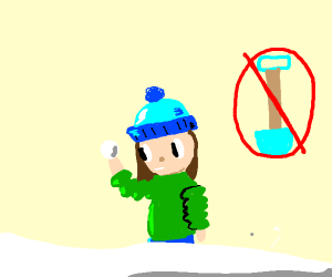 making a snowball without a shovel