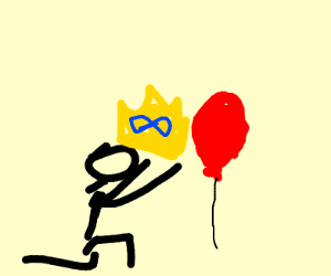Man gives balloon infinity crown