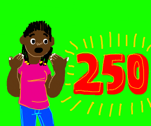 Girl is shocked by 250