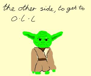 Yoda makes a funny joke
