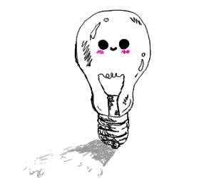 A happy but humble Light Bulb.