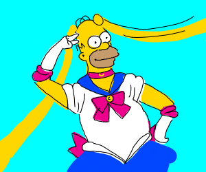 Homer Simpson is Sailor Moon
