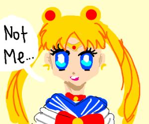 "Sailor Moon ""not me"""