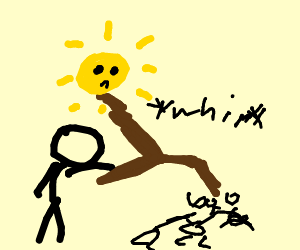 Stickfigure abuses everyone and the sun