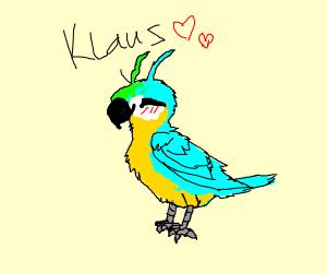 minecraft parrot (light blue)