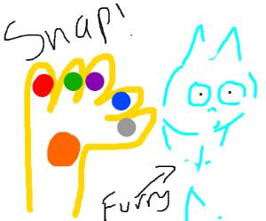 Thanos snaps a furry