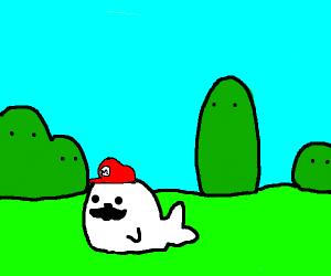 mario but as a seal