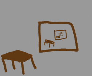 Drawing with a drawing in it paradox