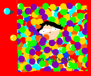 I can't get out of the ballpit
