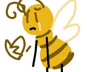 Heartbroken bee