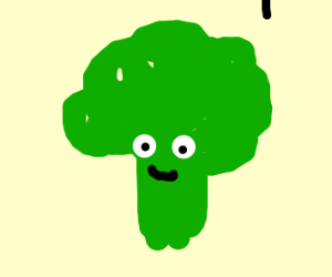 broccoli with eyes