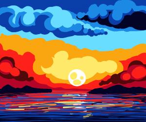 sunset (GREAT art)