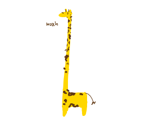 the neck of this giraffe is extremly long