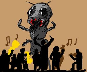 ants raid at a concert