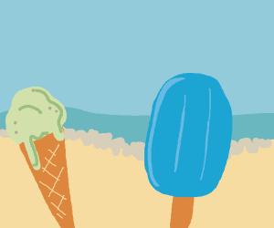 Ice Cream at the beach