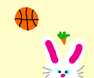 basket ball bunny (space jam?)