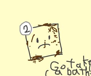 Panel 2 needs a bath