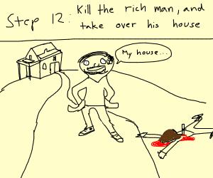 Step 11 become homeless