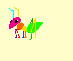 An adorable rainbow ant