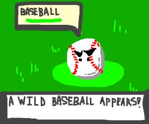 Wild baseball appeared!