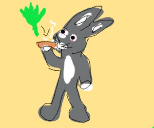 bugs bunny does the weed