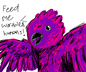 Sassy Hungry Purple Bird