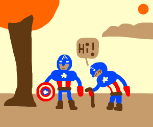 Old Captain America meets Young Captain
