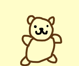 angry bear can't think of something