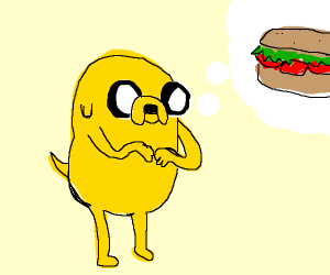 Jake the dog wants a sandwich