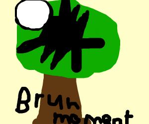 Slenderman in a tree