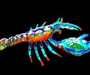Rainbow lobster