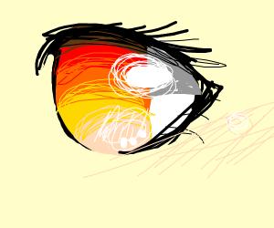 Realistic anime eye