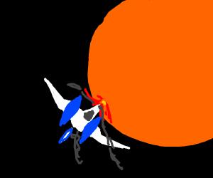 Starfox getting destroyed in suns orbit