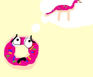 Donut wants to be dinosaur