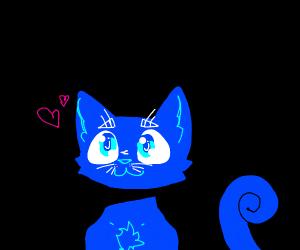 blue kawaii cat