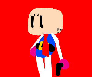 Bomberman is bald