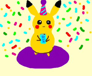 Pikachu at a party